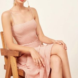 REFORMATION 'Bettie' Ribbed Midi Dress